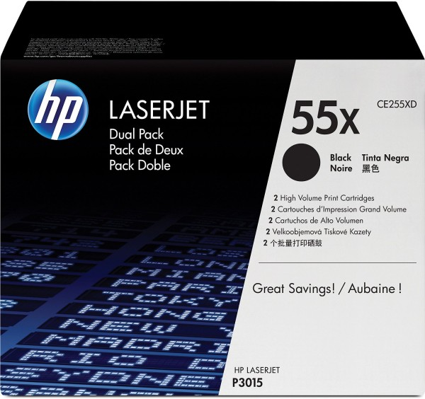 HP CE255X HP LJ Cartridge Nr.55X black 12,5K CE255X