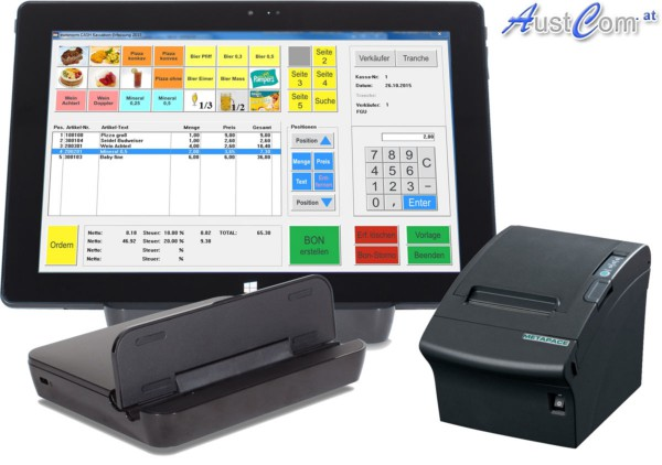 Kassentablet Set Drucker, Dock und Windows 10 inkl. vor installierter Software