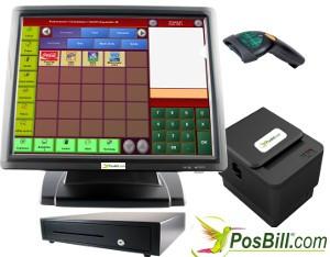 Kassensystem Einzelhandel Barcodeleser Kassenlade