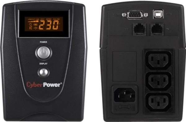 Cyberpower USV Value 600EILCD Green Power UPS 600VA/360W
