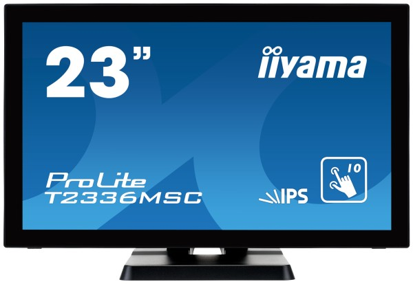 """IIYAMA 58,0cm (23"""") T2336MSC-B2 16:9 M-Touch DVI+HDMI"""