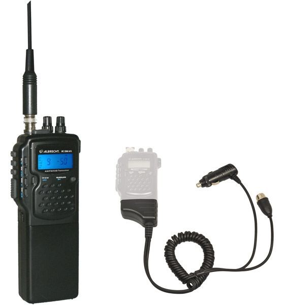 AE 2990,CB-Handfunk inkl.Kfz-Mobilhalter AM/FM/SSB