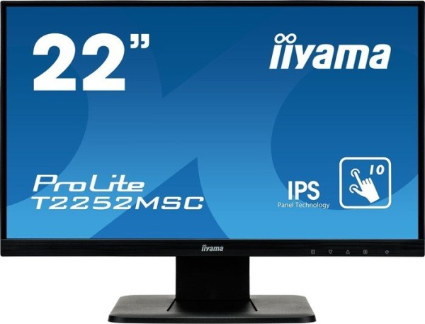 "IIYAMA 54.6cm (21,5"") T2252MSC-B1 16:9 M-touch HDMI+DP"