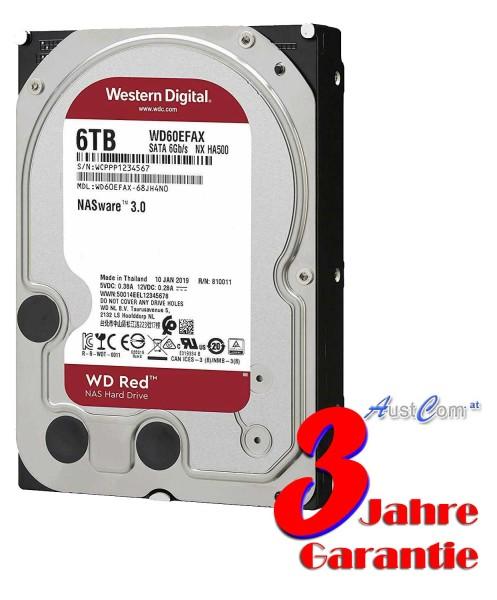 WD60EFAX 6TB Festplatte WD RED - NAS 24/7 im Dauereinsatz