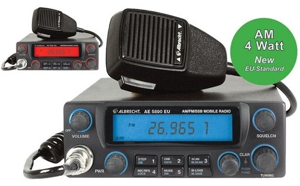 ALBRECHT AE 5890 EU,CB Mobil,Multi 4 Watt AM/FM, 12 Watt SSB
