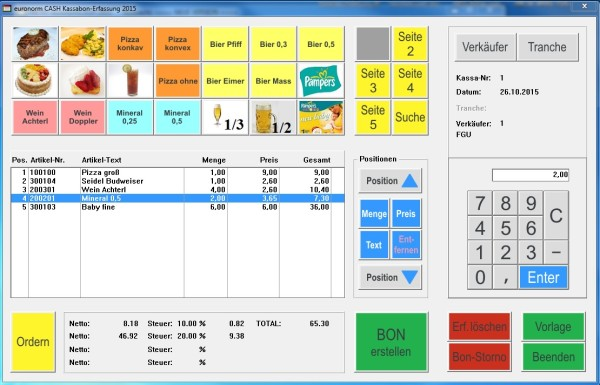 euronormCash Einzelplatz Lösung Registrierkassa
