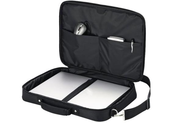 Notebooktasche Dicota 15.6 Zoll ca. 39.6 cm Trageriemen und Seitentasche schwarz