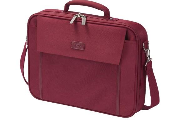 Notebooktasche Dicota 15.6 Zoll ca. 39.6 cm Trageriemen und Seitentasche rot