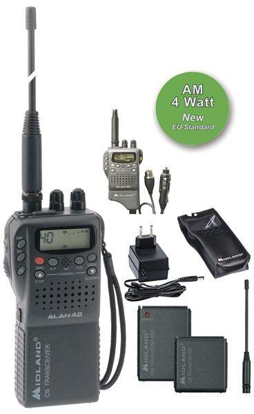 Alan 42 Multi CB Handgerät 40 Kanäle FM 4Watt