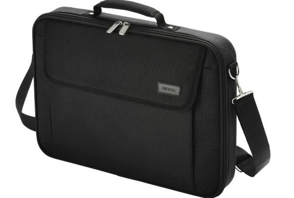 Notebooktasche Dicota 17.3 Zoll ca. 43.9cm Trageriemen und Seitentasche schwarz