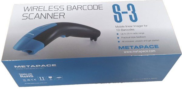 Metapace S-3 USB-Kit Barcode-Scanner Funk 1D Linear Imager